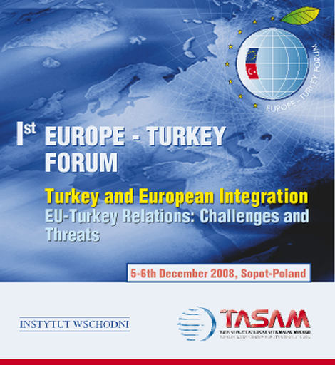 1st Europe - Turkey Forum