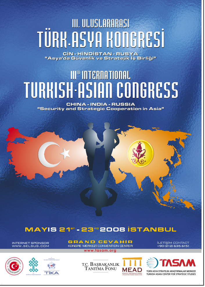 3rd International Turkish - Asian Congress
